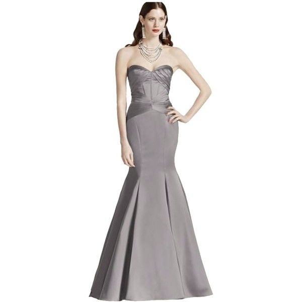 Pre-owned Zac Posen Mercury/grey Truly Grey Mermaid Evening Gown ...