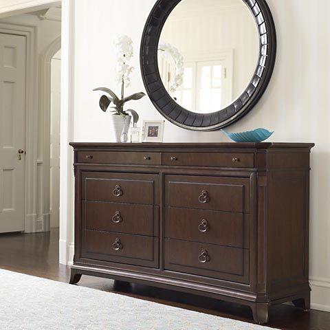 Dresser Bedroom Sets Pinterest Round mirrors, Dresser and Foyers