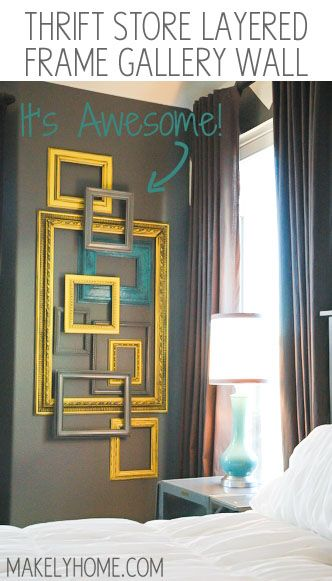 Frame Wall Art this is such an inexpensive way to create art in a big space