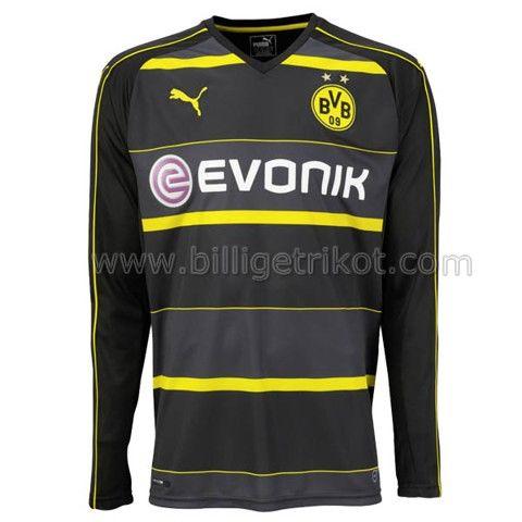Borussia Dortmund Auswarts Trikot 2017 Langarmelig 22 90 Bundesliga Borussia Dortmund Borussia Dortmund Borussia