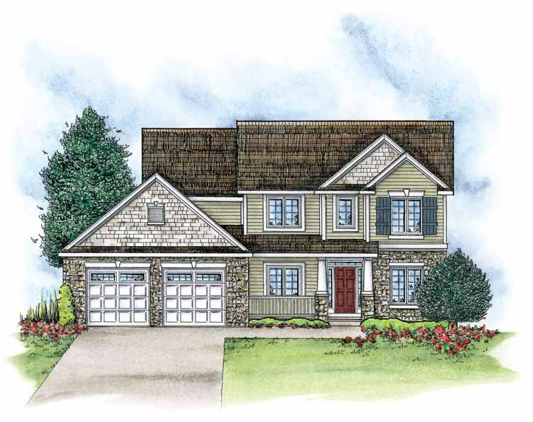 Traditional Style House Plan 3 Beds 2 5 Baths 2361 Sq Ft Plan 20 2085 Craftsman House Plans House Plans Craftsman Floor Plans