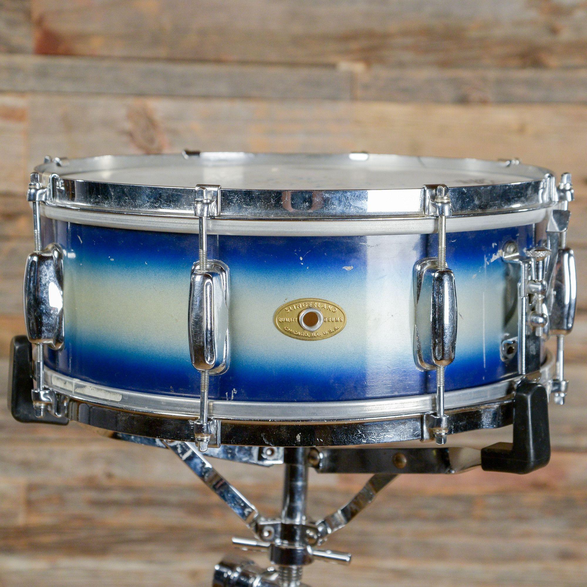Slingerland 5.5x14 Student Model Radio King Snare Drum Blue & Silver ...