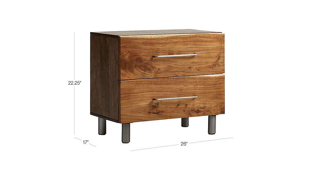 Best Junction Low Nightstand Cb2 Nightstand Bedroom 400 x 300
