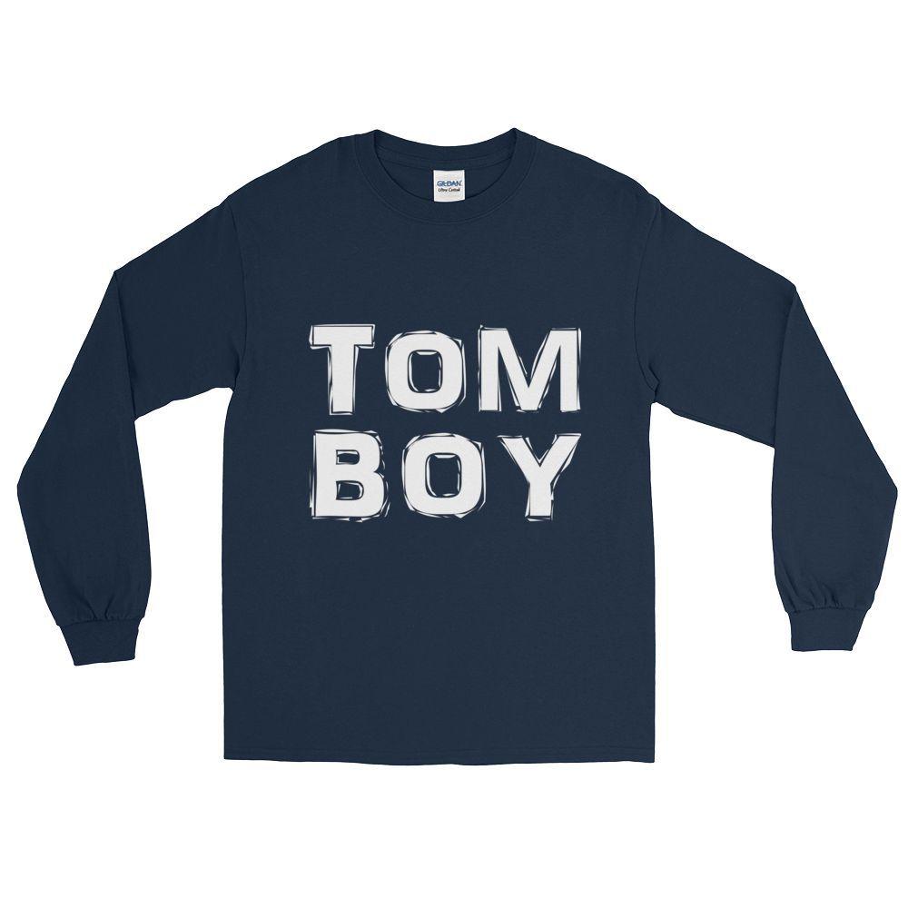 """TomBoy"" (white print) - Long Sleeve Tees"