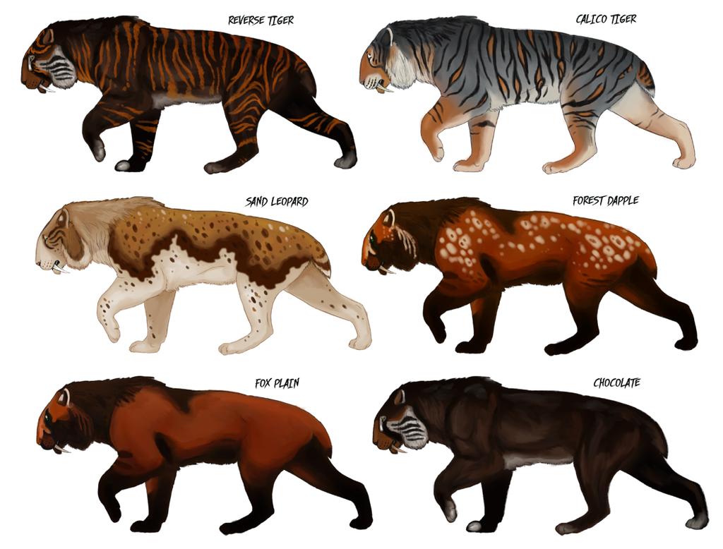 Speculative Smilodon colors by Viergacht on DeviantArt   mamíferos ...