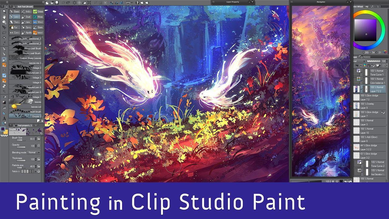 Dusk Fish Home Digital Painting In Clip Studio Paint Manga Studio Clip Studio Paint Youtube Art Tutorials Clip Studio Paint Tutorial