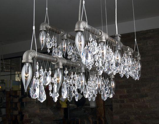 Lampadario Allaperto : Michael mchale: industrial chic lighting my style pinterest