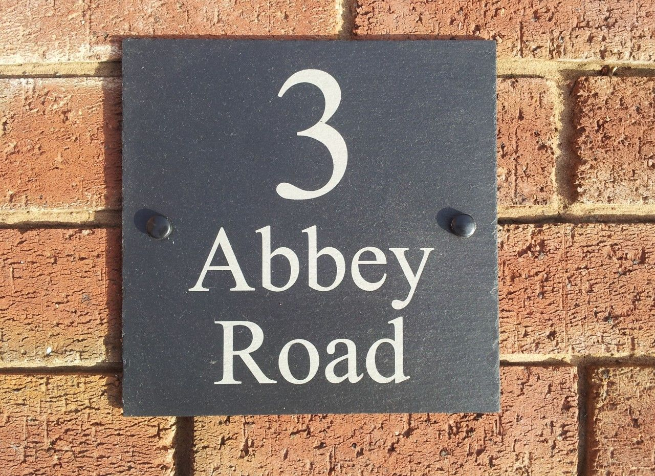 House Signs Slate 20mm Thick 350mm X 250mm House Name Signs