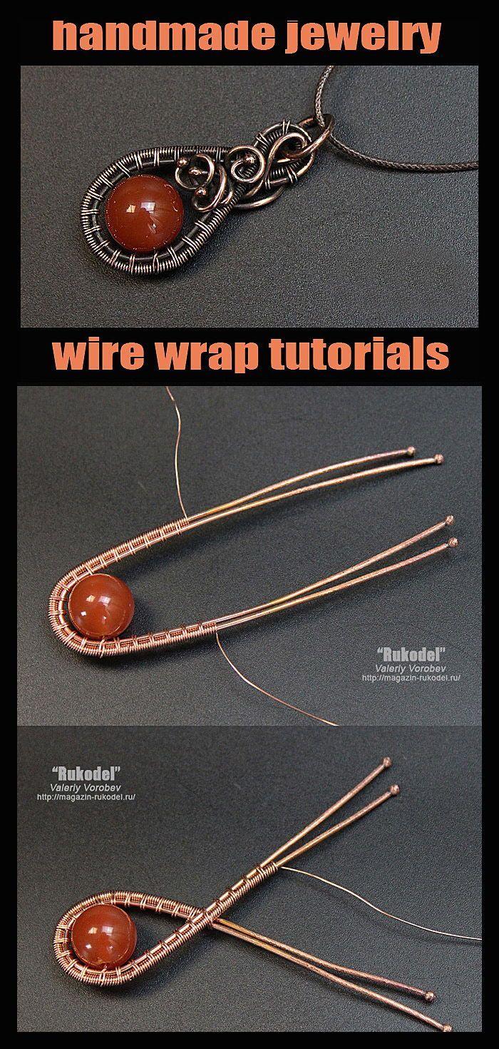 Valeriy Vorobev – Wire Wrap Tutorial. Draht gewickelt Anhänger. –  DIY, Wire Wr…