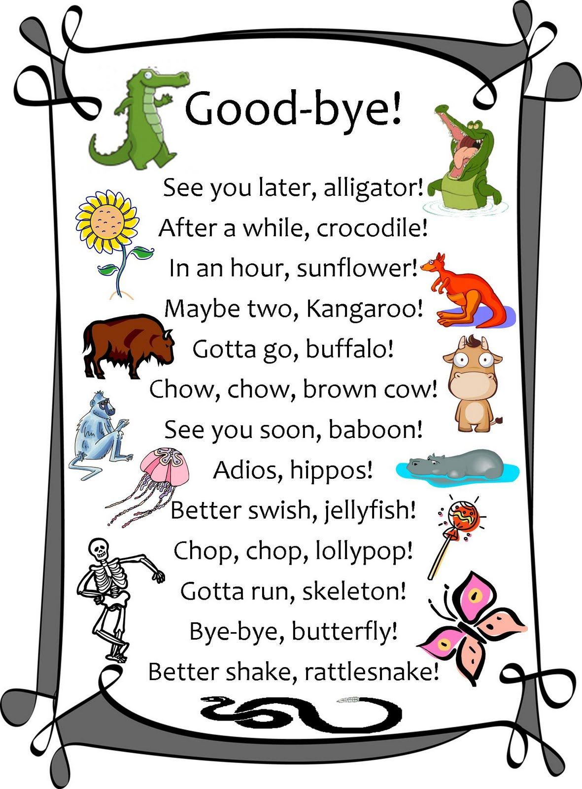 Flexible Dreams Good Bye Printable Farewell Cards Goodbye Cards Teacher Cards