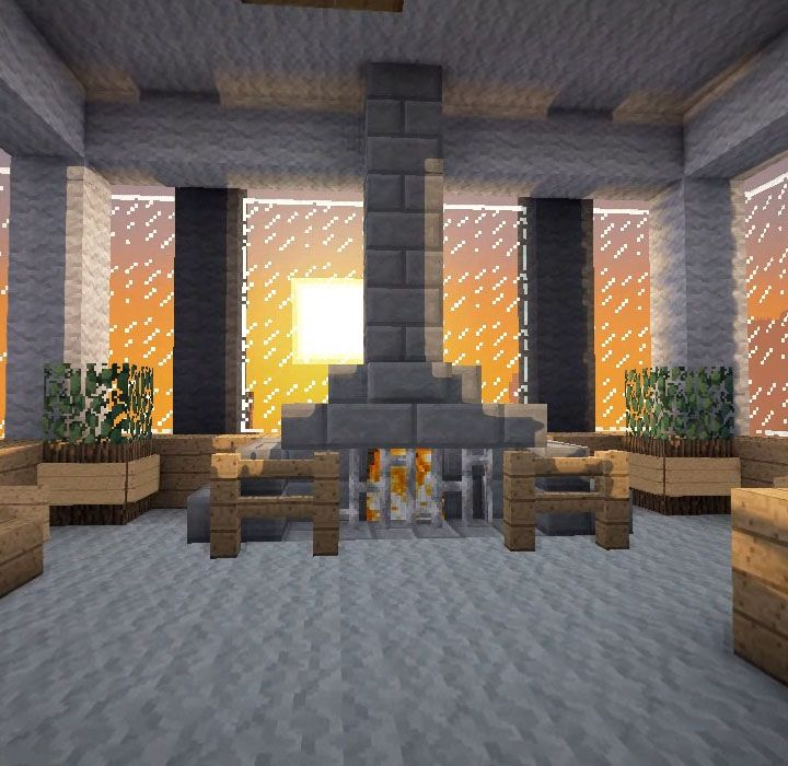 Minecraft Furniture Fireplaces Minecraft Bedroom Minecraft Room Minecraft Bedroom Game