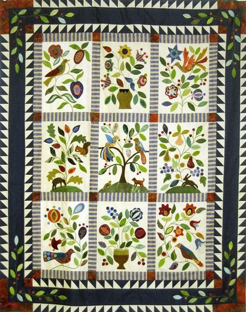 41 best ideas about My Enchanted Garden quilt on Pinterest Wool
