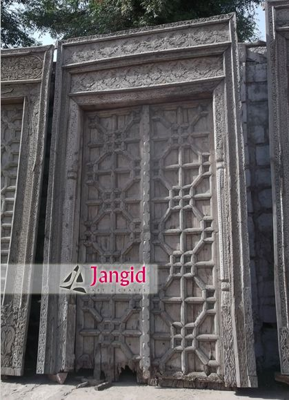 Beautiful Indian Antique Hand Carved Door Please Email Us
