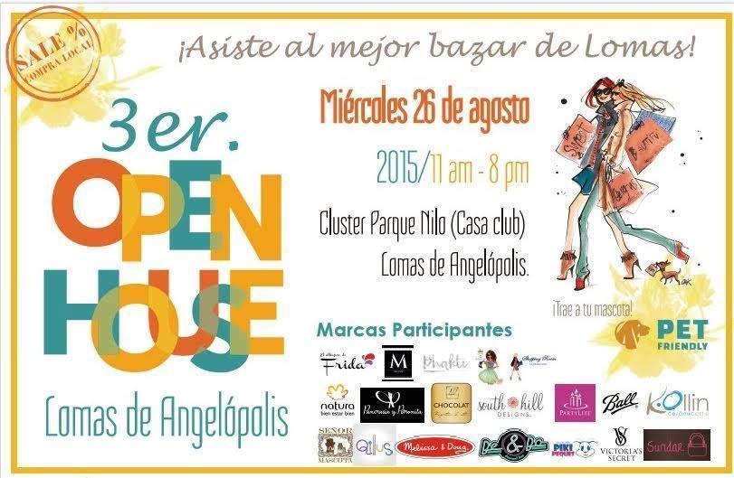 Este miércoles 26 de agosto no te puedes perder el mejor Bazar de Lomas, de 11 am a 8 pm en la Casa Club de Cluster Parque Nilo. No se te olvide traer a tu mascota!!