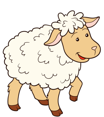 Cute Sheep Funny Sheep Animal Clipart