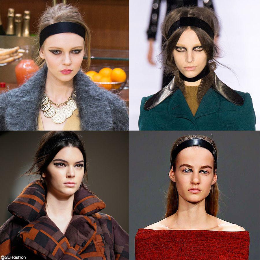 Trendy hairstyle for FW 2015  Headband. Black headband. Chanel ... 55d2f2d5ae4
