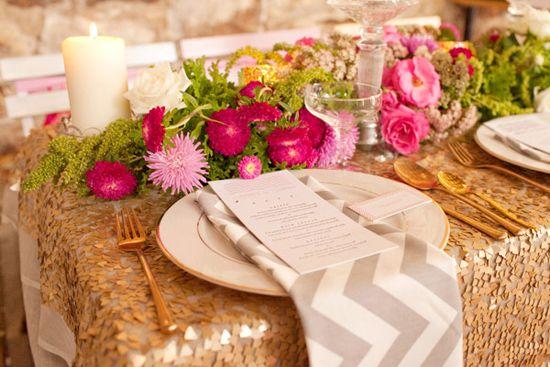 Pink And Gold Wedding Inspiration  Tischdeko HOCHZEIT