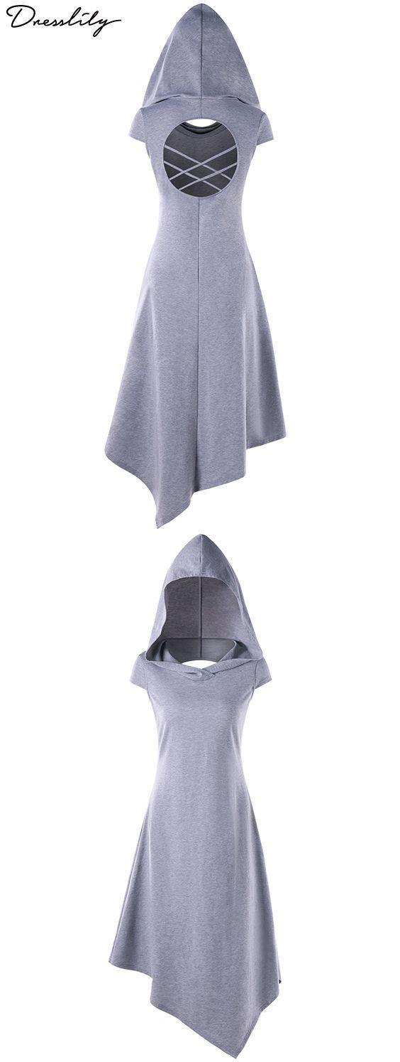 El vestido de moda tiene una silueta de pañuelo con secciones traseras recortadas. En … – ropa