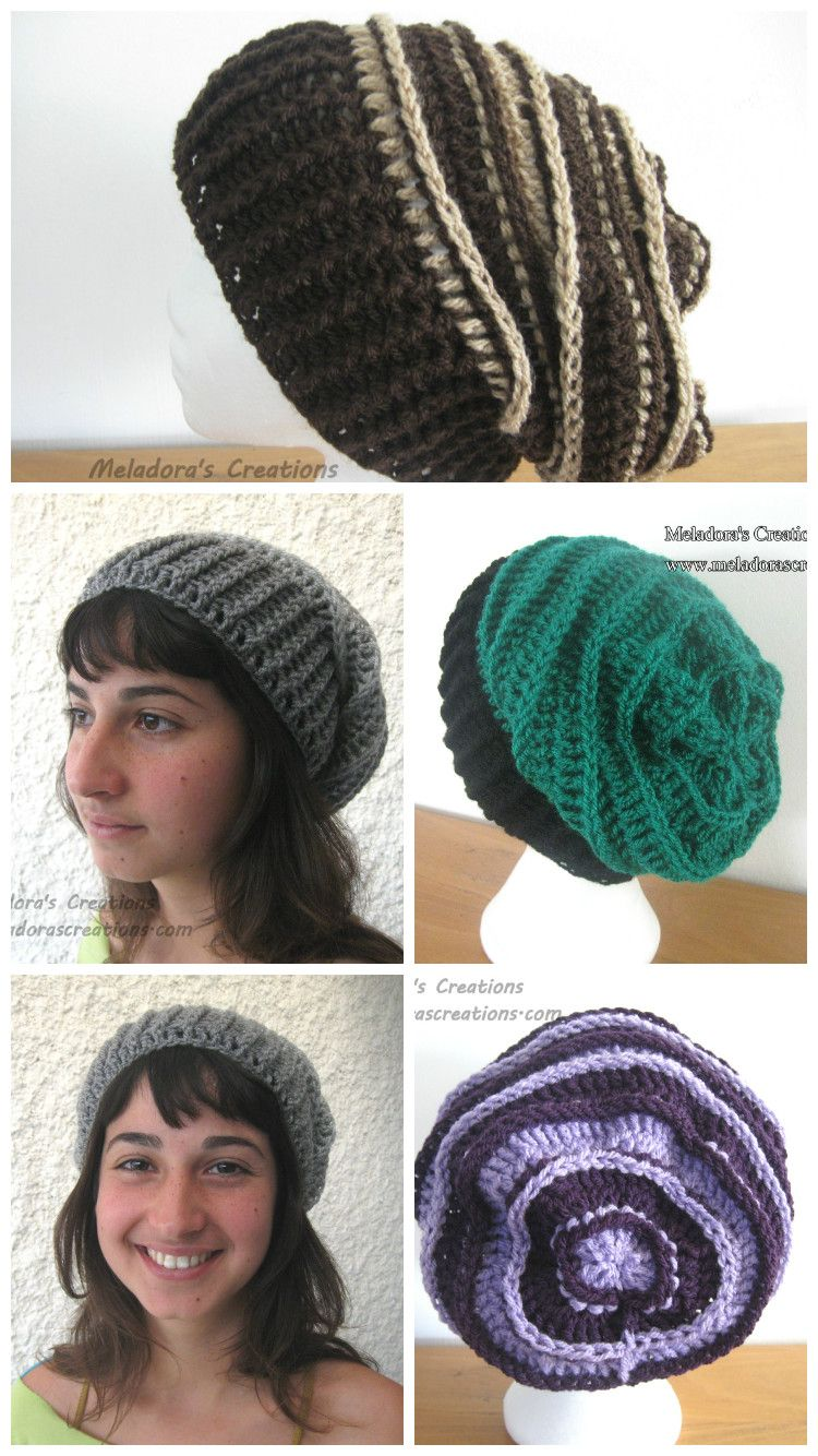 Riptide Slouch Hat - Pattern and Tutorials by Meladora s Creations bbd6e37a00e
