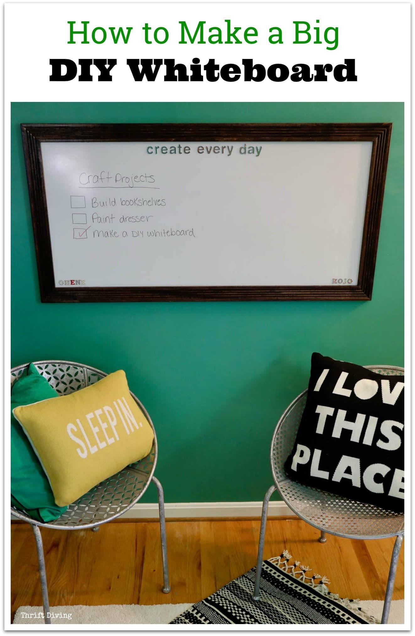 How to Make a DIY Whiteboard For Under $30