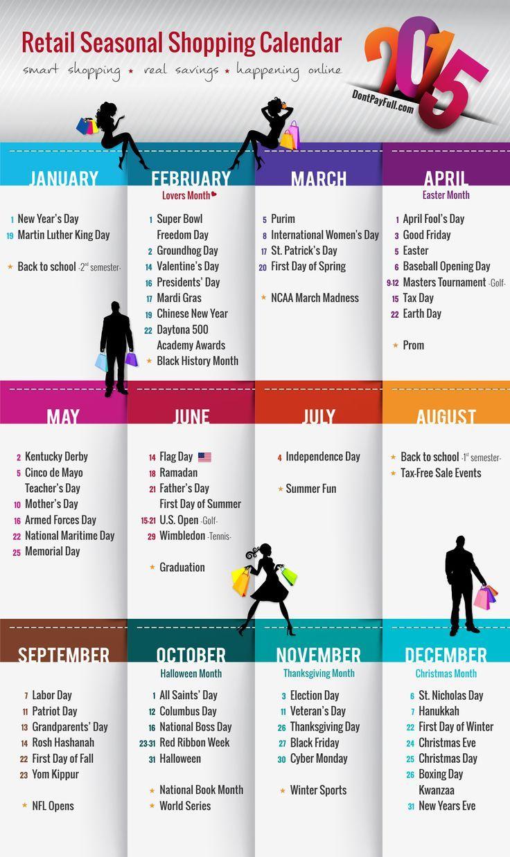 Retail Seasonal Shopping Calendar Retail Promotion