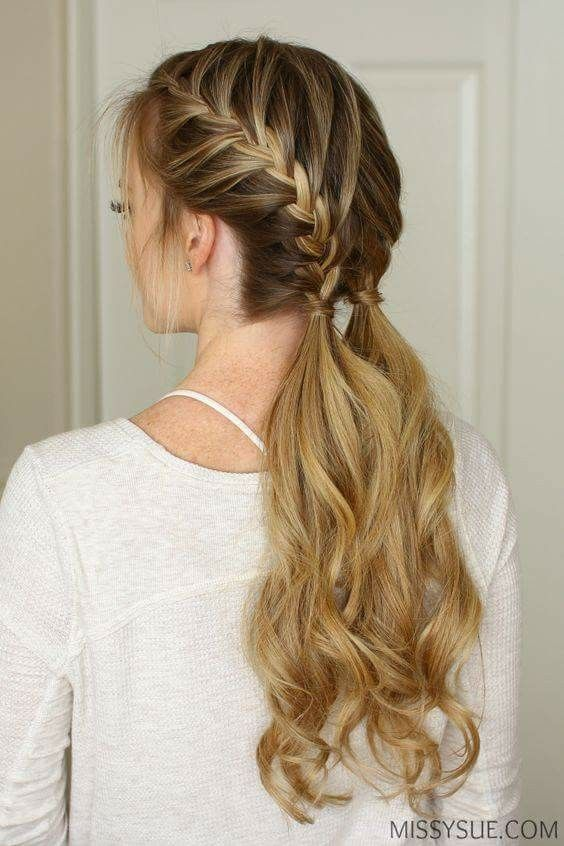 Braid Hairstyles For Long Hair Two French Braids Into Pig Tails  Piggy Memes  Pinterest  Pig