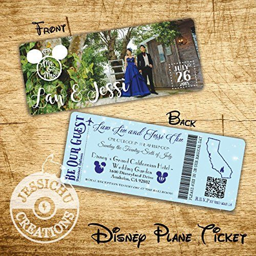 AmazonSmile Disney Plane Ticket FastPass Wedding Invitation