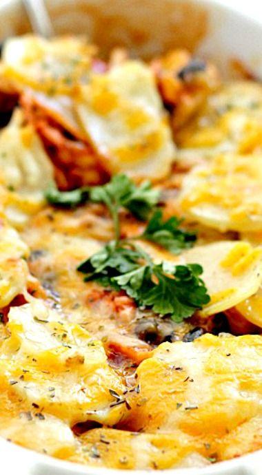 Chicken Enchilada Potato Casserole Main Dish Recipes
