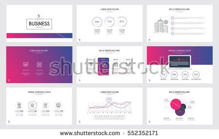 minimal presentation slide templates and business brochures, pink, Powerpoint templates