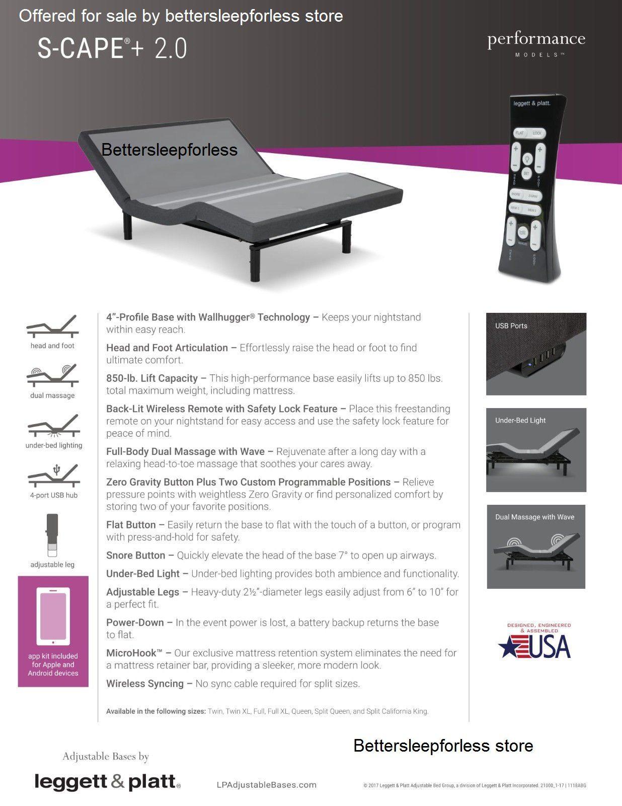 Leggett and Platt S Cape Plus 2.0 Adjustable Bed Base