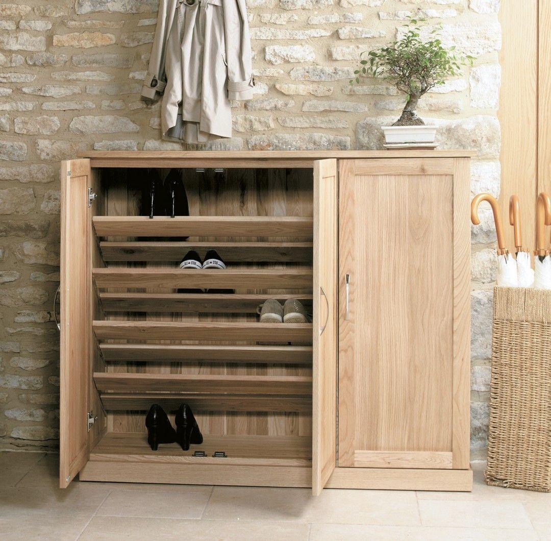 Hallway furniture shoe storage  Bonsoni Mobel Oak Extra Large Shoe Cupboard Part of our innovative
