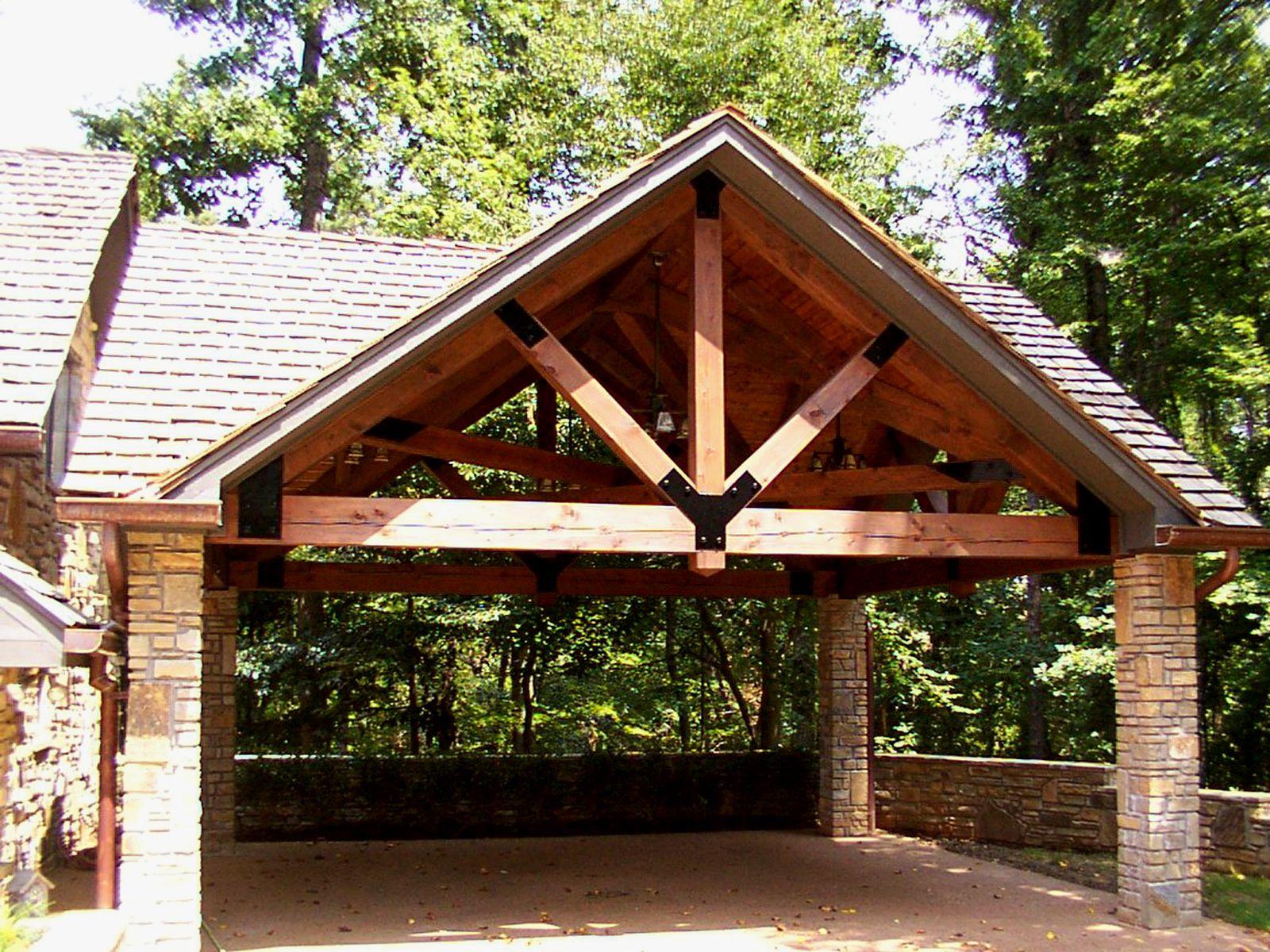Timber framed carport home sweet home pinterest for Timber frame carport plans