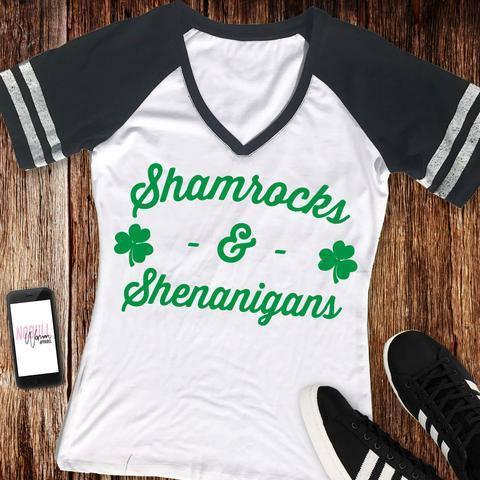 0b89498d2 Shamrocks and Shenanigans Women's Shirt Tee, St. Patty's Day Shirt, St. Paddy's  Day, St. Patrick's Day, Top, Vneck, Shamrock, Funny,Drinking