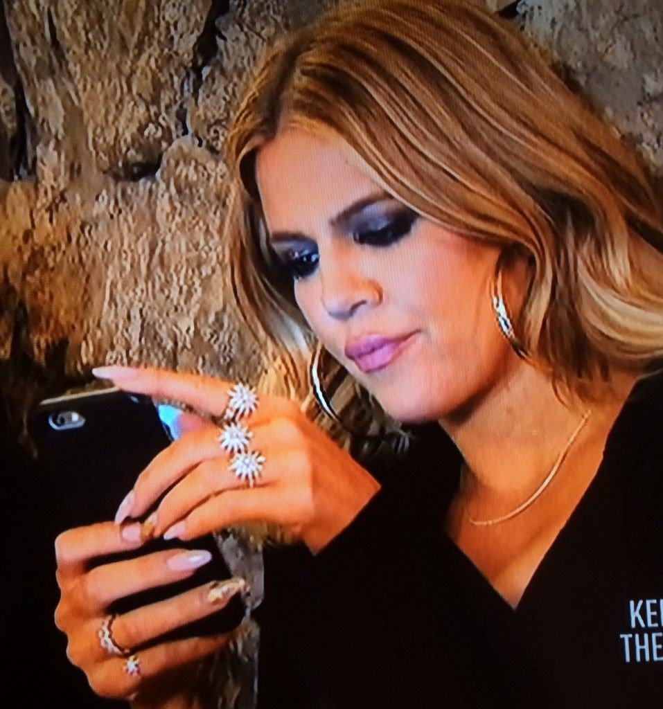 Khloe Kardashian's Starburst Rings In Armenia
