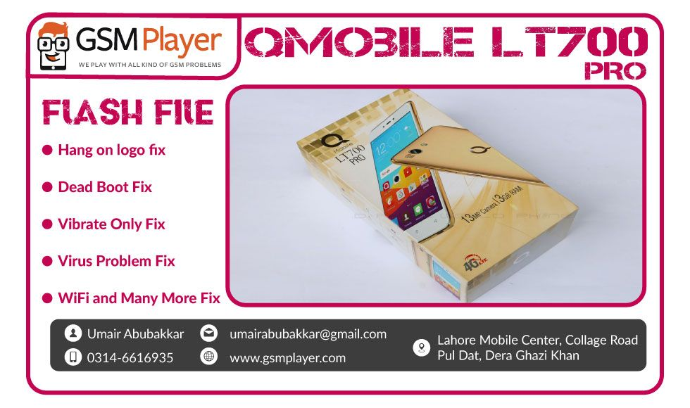 QMobile LT700 PRO Firmware | Mobiles | Tools, Usb flash