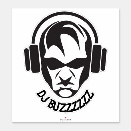 Cool custom name DJ sticker in 2020 Dj logo