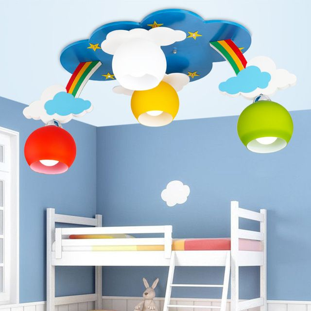 Kids Bedroom Cartoon Surface Mounted Ceiling Lights Modern Children Lamps E27 Lighting