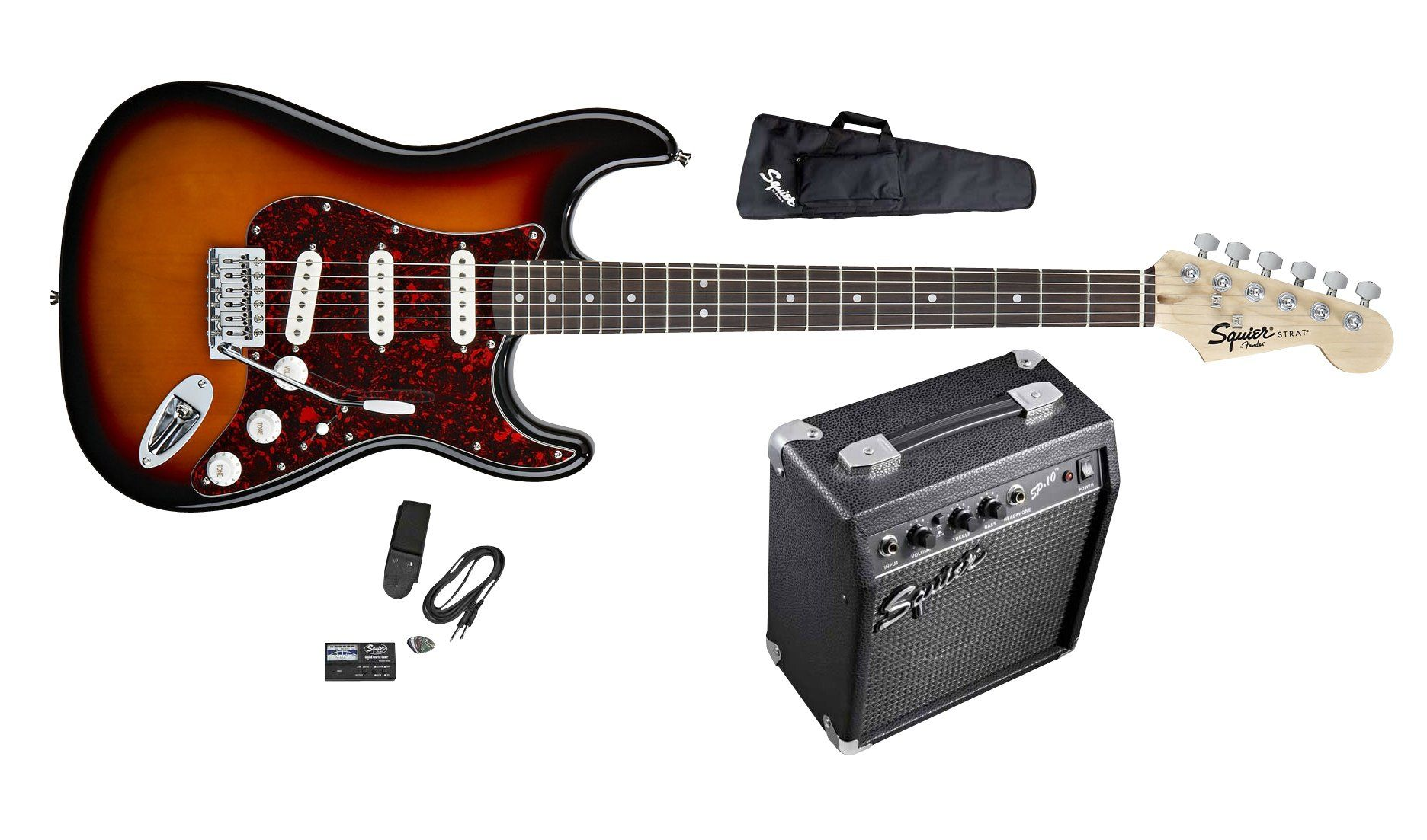 Squier SE Special Strat Electric Guitar Package Equipment For Sale, Dj  Equipment, Playing Guitar