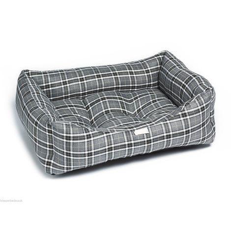Grey Tartan Dog Bed Hayvanlar Alemi Hayvanlar