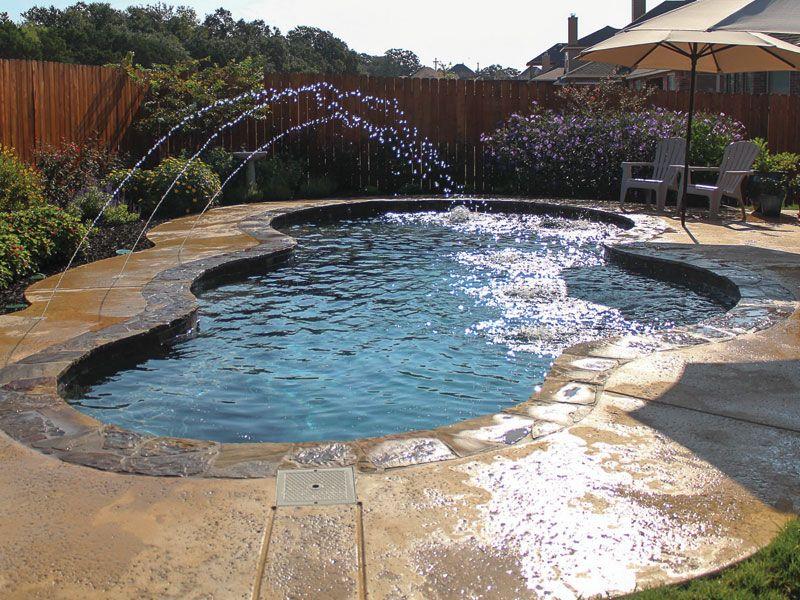 The aqua group fiberglass pools spas trilogy galaxy for Pool design austin