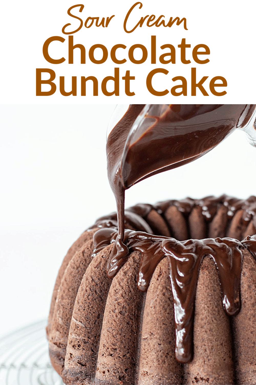 Chocolate Bundt Cake With Ganache Frosting Recipe Chocolate Bundt Cake Bundt Cake Easy Bundt Cake
