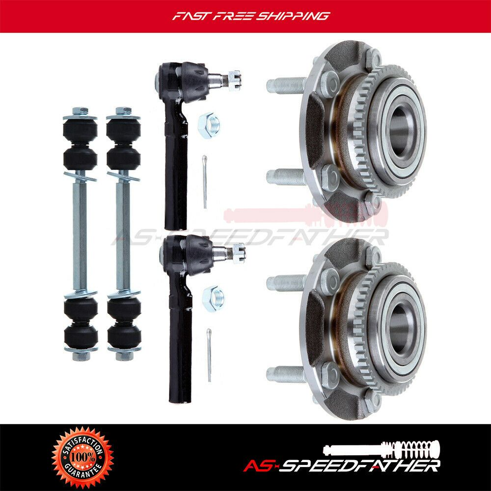 Advertisement Ebay 6 X Kit Front Wheel Hub Bearing Tie Rod Sway Bar For Ford Mustang 1yr Warranty Mustang Ford