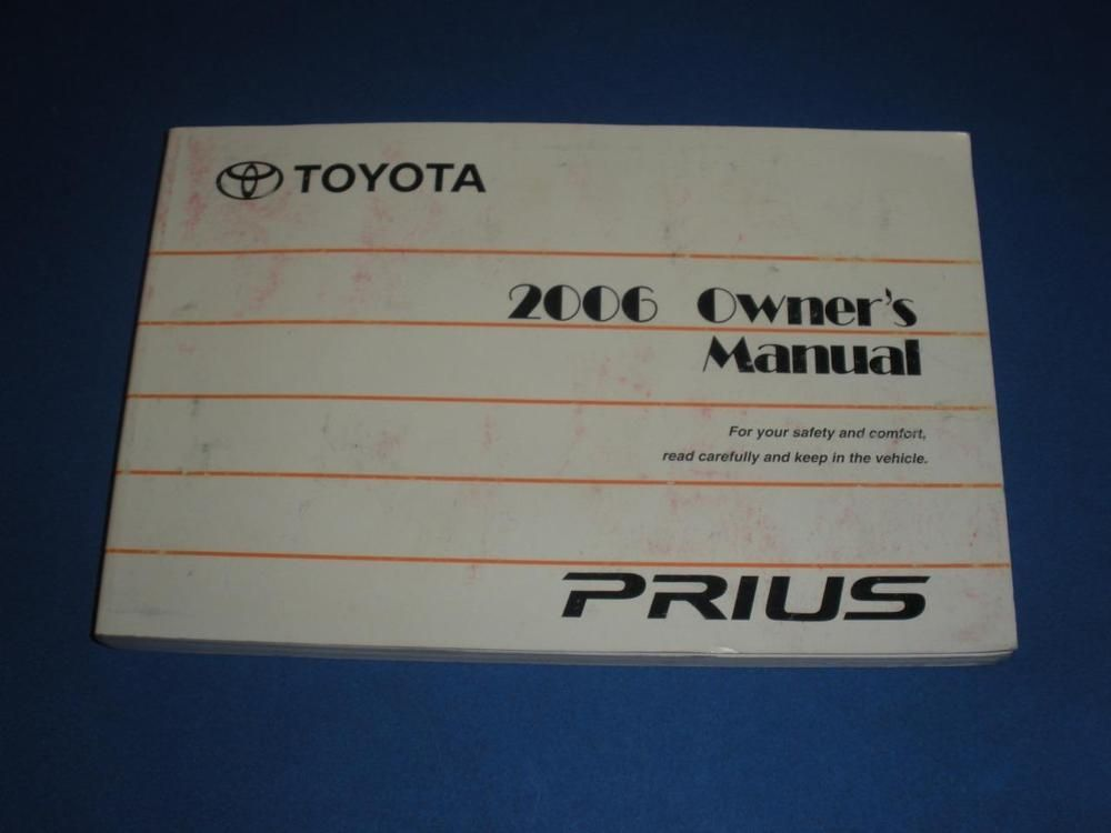 2006 Toyota Prius Owners Manual Book Guide | Owners Manuals
