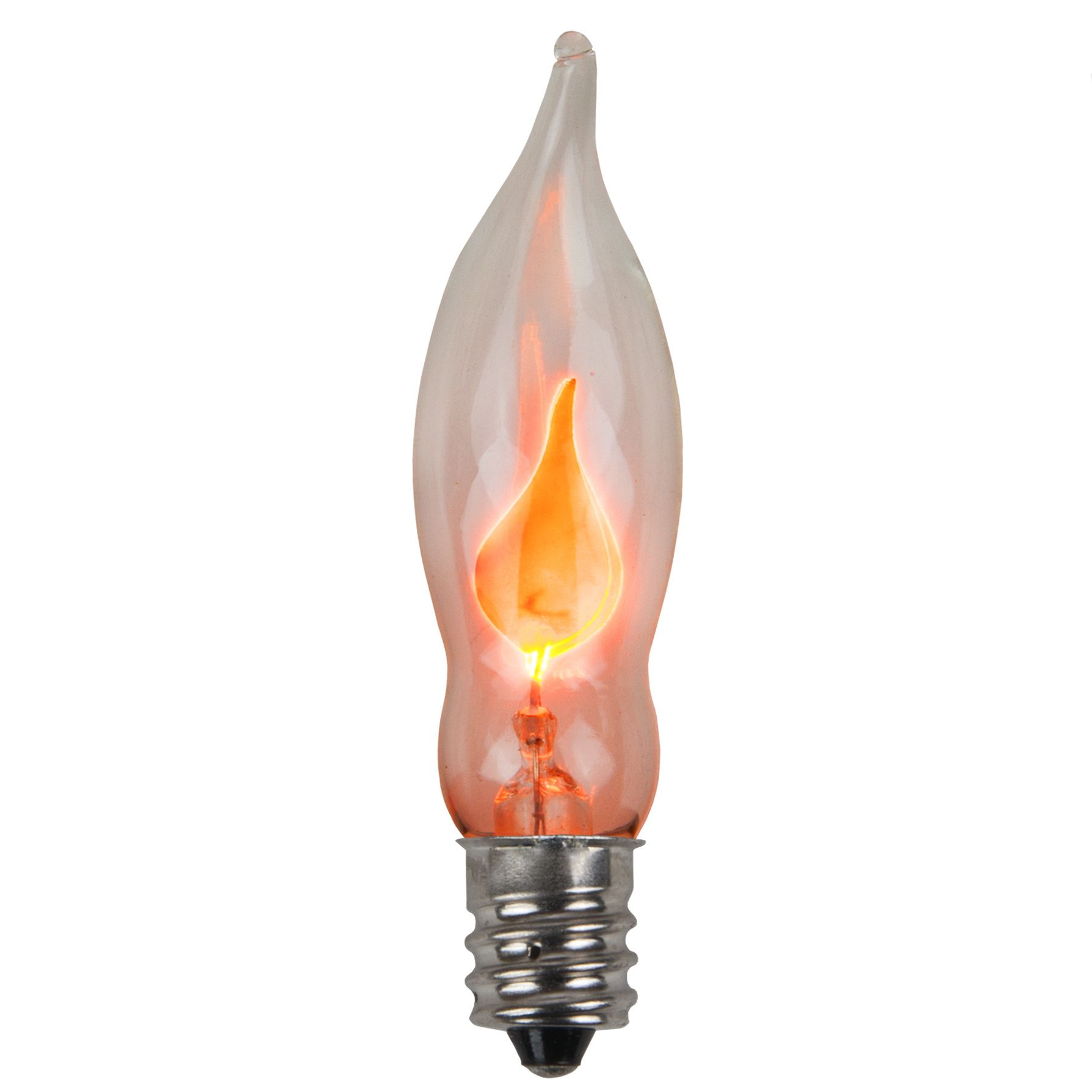 C7 Christmas Light Bulb C7 Flicker Flame Clear Christmas Light Bulbs Pack Of 2 Christmas Lights Etc Light Bulb Candle Outdoor Light Bulbs Flickering Candles