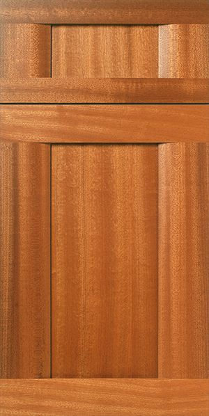 S875 Continuum Sapele Mahogany Cabinet Door With Natural Clear