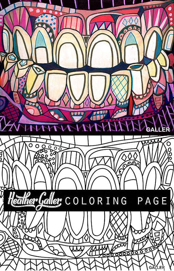 Dental coloring, Dentist Teeth Tooth Anatomy coloring book, adult ...
