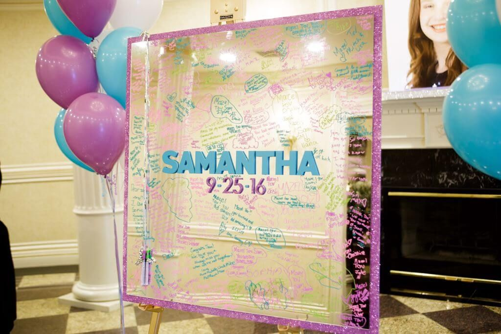 Sign In Boards Party Event Decor Balloon Artistry Mirror Sign Bat Mitzvah Themes Bar Mitzvah Centerpieces
