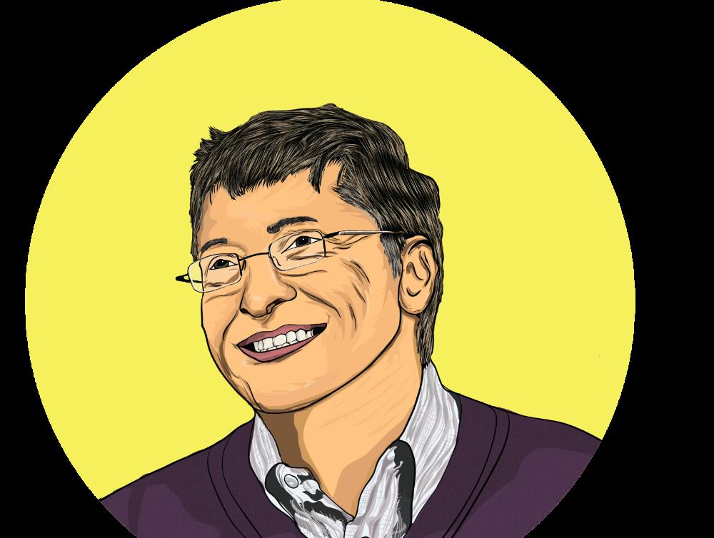 Bill Gates Portrait Portrait Design Portrait Visionary Art