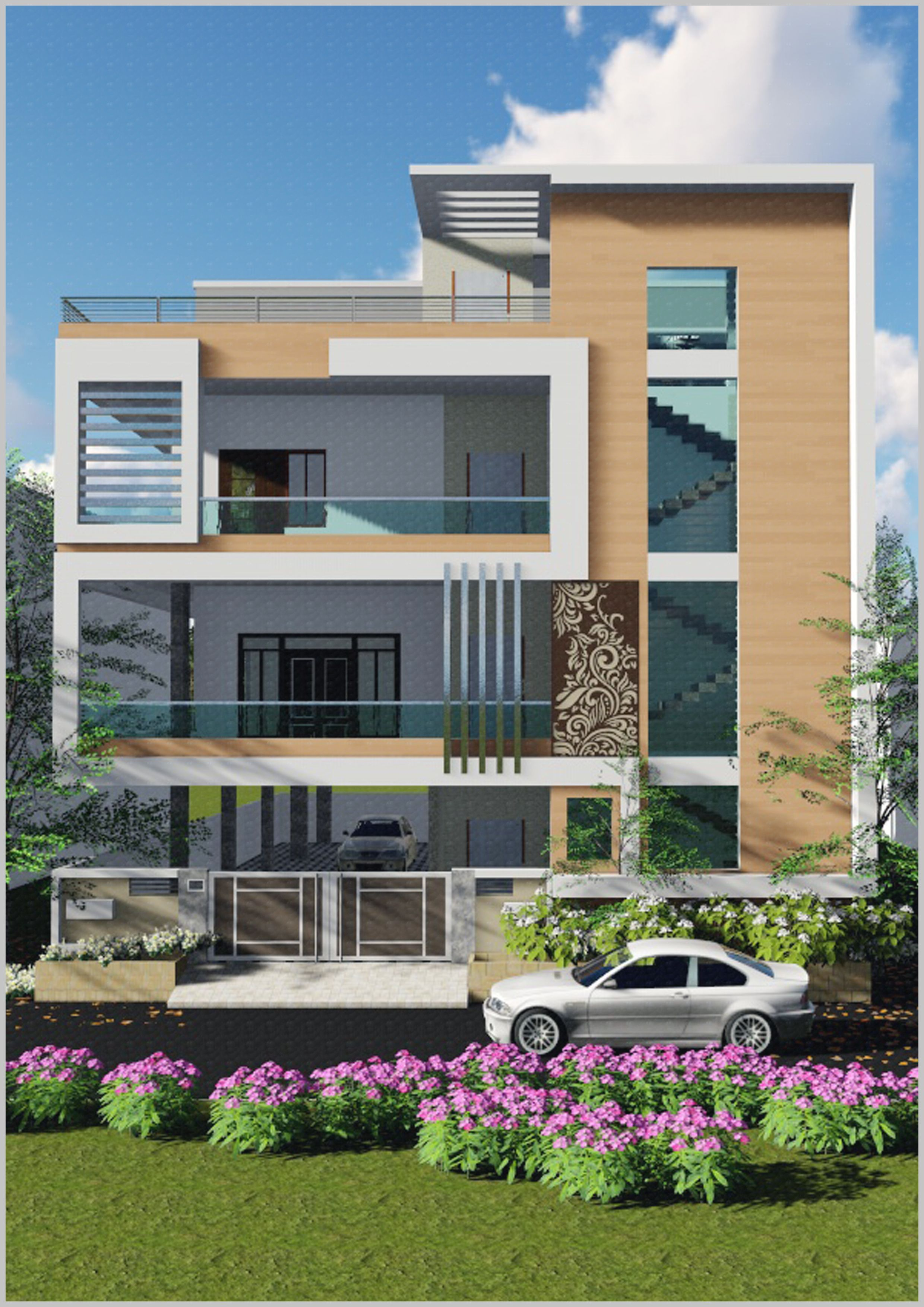 3d Exterior House Designs: Pin By JASPREET SINGH On Exterior 3d In 2019
