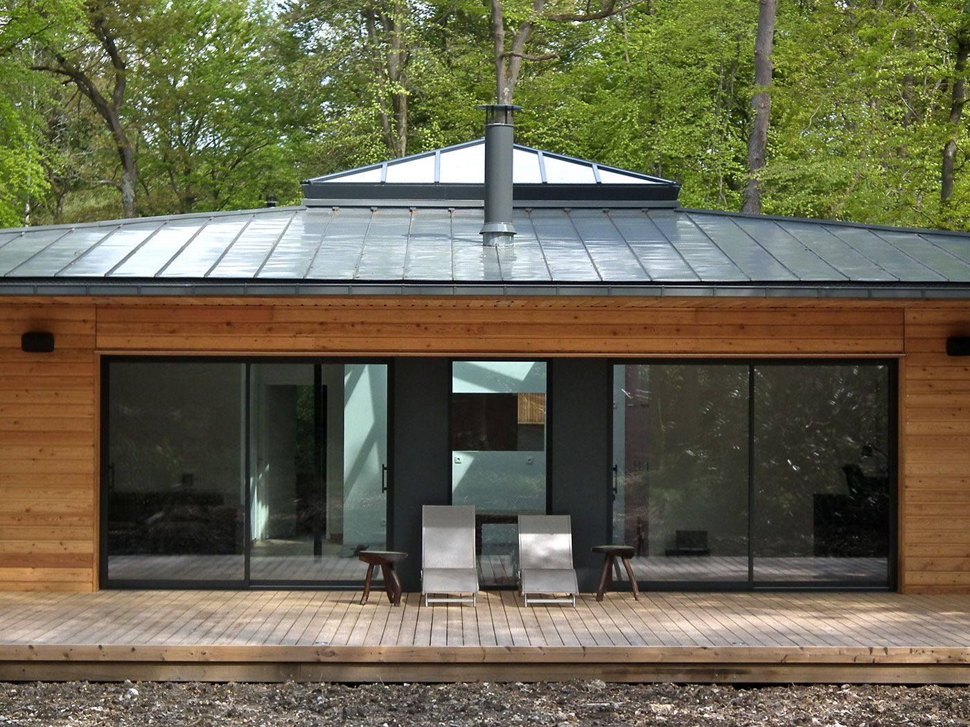 Maison En Bois Normandie normandie : une maison à ossature bois carrée en pleine